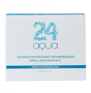 Ночной питательный увлажняющий крем с витамином Е «Аква 24», 50 мл Beauty Style